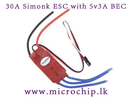 30A -ESC Brushless Motor Speed Controller with 5v 3A BEC for diy quadcopter  multicopter