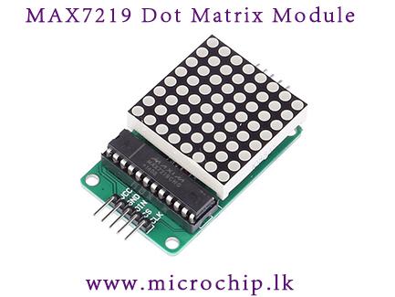 MAX7219 dot matrix display module / LED display / 8x8 led module