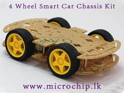 Smart Car Kits >> 4 Wheel Robot Smart Car Chassis Kit Microchip Lk
