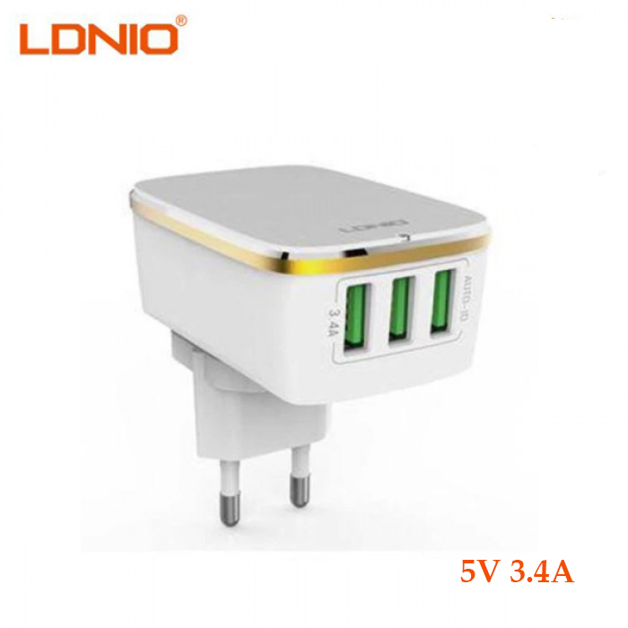 LDNIO 3 USB Port 5V 3 4A Travel Charger Wall Adapter for Raspberry pi 3 /  iphone / android /electronic Products